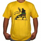 RASTA PEACE ONE LOVE LION of Judah Roots REGGAE T-Shirt M Medium Yellow