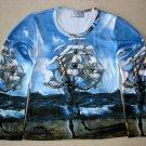 Salvador Dali THE SHIP Fine Art Print LONG SLEEVE T Shirt Misses Size L Large