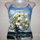 THe SHIP Salvador Dali Fine Art Print Shirt Singlet TANK TOP Misses Size XL