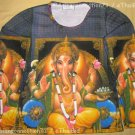 LORD GANESH Hindu God Fine Art Print LONG SLEEVE T Shirt Misses Size XL Extra Large