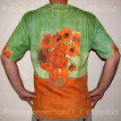 Van Gogh SUNFLOWERS Tournesols Fine Art Print T Shirt MENS Short Sleeve L Large