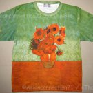 Van Gogh SUNFLOWERS Tournesols Fine Art Print T Shirt MENS Short Sleeve XL Extra Large