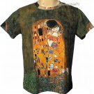 THE KISS Gustav Klimt Short Sleeve Fine Art Print T Shirt MENS XL Extra Large