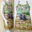 VAN GOGH Art Print Dress Misses M Medium Size 8-10 PEASANT WOMEN DIGGING IN FIELD WITH SNOW