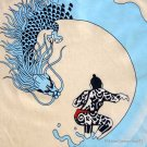 DRAGON SURF Japanese RONIN Yakuza Tokyo Japan T-Shirt L Large Cream