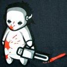 NORTH DRAGON Baby Jason Bloody Chainsaw Massacre Punk Rock Killer T-Shirt M Medium Black