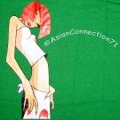 NORTH DRAGON Redhead Asian SUSHI GIRL T-Shirt L Large Charcoal Green