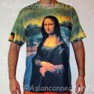 MONA LISA T Shirt La Joconde Leonardo Da Vinci Fine Art Hand Print Mens M Medium