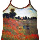 Monet POPPIES Shirt Art Print Singlet TANK TOP Misses S Small