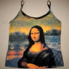 MONA LISA Leonardo Da Vinci Fine Art Print Shirt Singlet TANK TOP Misses M Medium