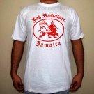 JAH RASTAFARI JAMAICA Roots Reggae Irie Dub Lion T-Shirt S Small White