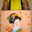 AUTUMN GEISHA Japan Art Print Bag Sling Purse Messenger Tote L Large