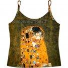 THE KISS Gustav Klimt Fine Art Print Singlet TANK TOP Shirt Misses S Small