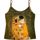 THE KISS Gustav Klimt Fine Art Print Singlet TANK TOP Shirt Misses L Large