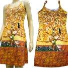 TREE of LIFE Gustav Klimt Hand Print Fine Art Dress Misses Size S 4-6