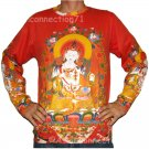 GUANIM Goddess of Mercy LONG SLEEVE Hindu Buddha PN T Shirt MENS L Large