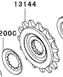 Kawasaki 13144-0024 Sprocket Output Ninja 650R Versys ER6n ER6f OEM 2006-2014