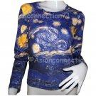 STARRY NIGHT Long Sleeve VAN GOGH T Shirt Misses XL EXTRA LARGE
