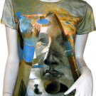 Salvador Dali PYRAMID of FORTUNE Cap Sleeve Fine Art Print Short Sleeve T Shirt Misses S Small