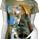 Salvador Dali PYRAMID of FORTUNE Cap Sleeve Fine Art Print Short Sleeve T Shirt Misses M Medium