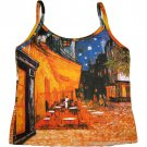 CAFE TERRACE at NIGHT Van Gogh Art Print Shirt Singlet TANK TOP Misses L Large