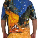 Van Gogh Cafe Terrace At Night Fine Art Hand Print PN T Shirt Mens XL Extra Large