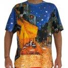 Van Gogh Cafe Terrace At Night Fine Art Hand Print PN T Shirt Mens L Large