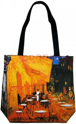 Van Gogh CAFE TERRACE AT NIGHT Fine Art Print Bag Sling Purse Tote Messsenger S Small