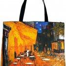 Van Gogh CAFE TERRACE AT NIGHT Fine Art Print Bag Sling Purse Tote Messsenger L Large