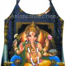 LORD GANESH Hindu Ganapati Fine Art Hand Print Shirt Singlet TANK TOP Misses S Small