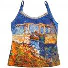 VAN GOGH Langlois Bridge at Arles Fine Art Print Shirt Singlet TANK TOP Misses XL