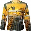 Salvador Dali DISINTEGRATION OF MEMORY Long Sleeve Art Shirt Men's Size M Medium