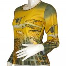 DALI Disintegration of Memory Long Sleeve Art Print Shirt Misses Size L Large