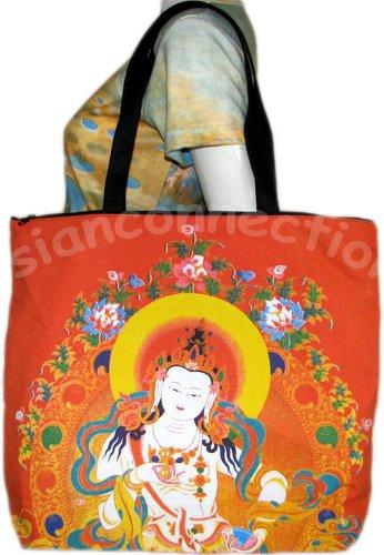 GUANIM Buddhist Goddess of Mercy Art Bag Sling Purse Tote Messenger L Large