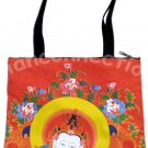 GUANIM Buddhist Goddess of Mercy Art Bag Sling Purse Tote Messenger S Small