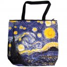Van Gogh STARRY NIGHT Fine Art Print Bag Sling Messenger Purse Tote L Large