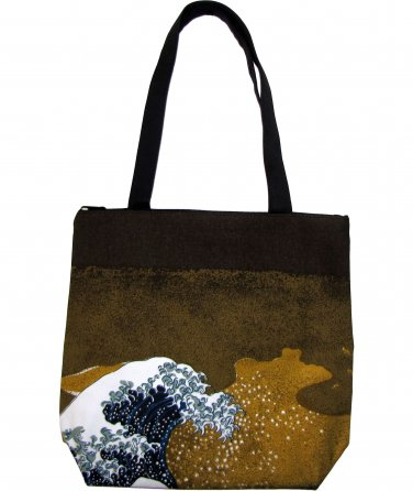GIANT WAVE Hokusai Ukiyoe Japan Art Print Bag Purse Messenger Tote S Small