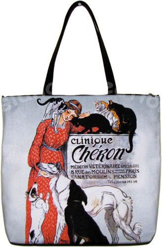 CLINIQUE CHERON STEINLAN Art Print Tote Bag Purse Messenger L Large