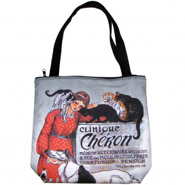 CLINIQUE CHERON Alexander STEINLAN Art Print Tote Bag Purse Messenger S Small