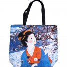 WINTER SNOW GEISHA Japanese Art Bag Sling Purse Tote LARGE L