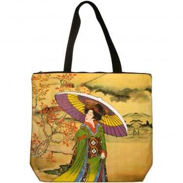 UTAMARO Ukiyoe Japanese Art Print Messenger Bag Sling Purse Tote L Large