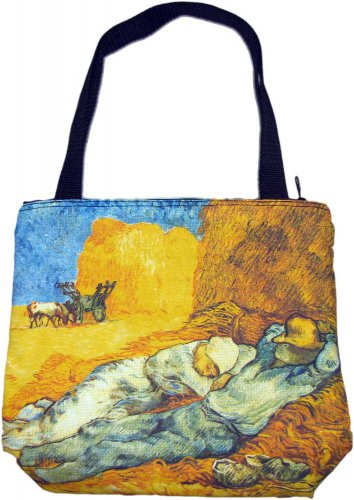 Van Gogh LA SIESTE Hand Print Art Bag Purse Tote Messenger S Small