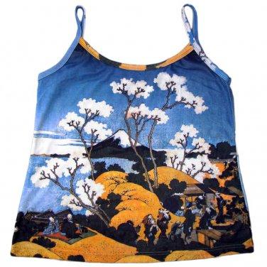 Hokusai FUGAKU SANJUROKEI Japanese UKIYOE Art Shirt Singlet TANK TOP XXL 2XL