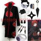 Naruto Akatsuki cloak Akasunano Sasori Cosplay Costume