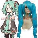 Vocaloid Hatsune Miku blue straight long Cosplay Wig