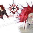 Kingdom Hearts Axel darkred cosplay wig