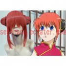 Gintama Kagura Coral Orange cosplay wig