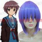 Suzumiya Haruhi No Yuuutsu Nagato Yuki dark blue cosplay wig