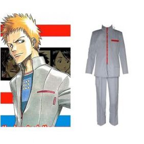 Bleach Ichigo Kurosaki School Uniform Mens cosplay costume