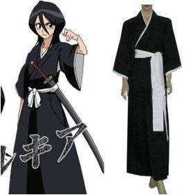 Bleach Kuchiki Rukia Soul Reaper Uniform Cosplay Costume